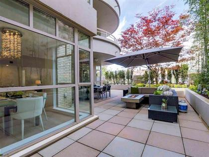 Patio at 306 - 5700 Larch Street, Kerrisdale, Vancouver West
