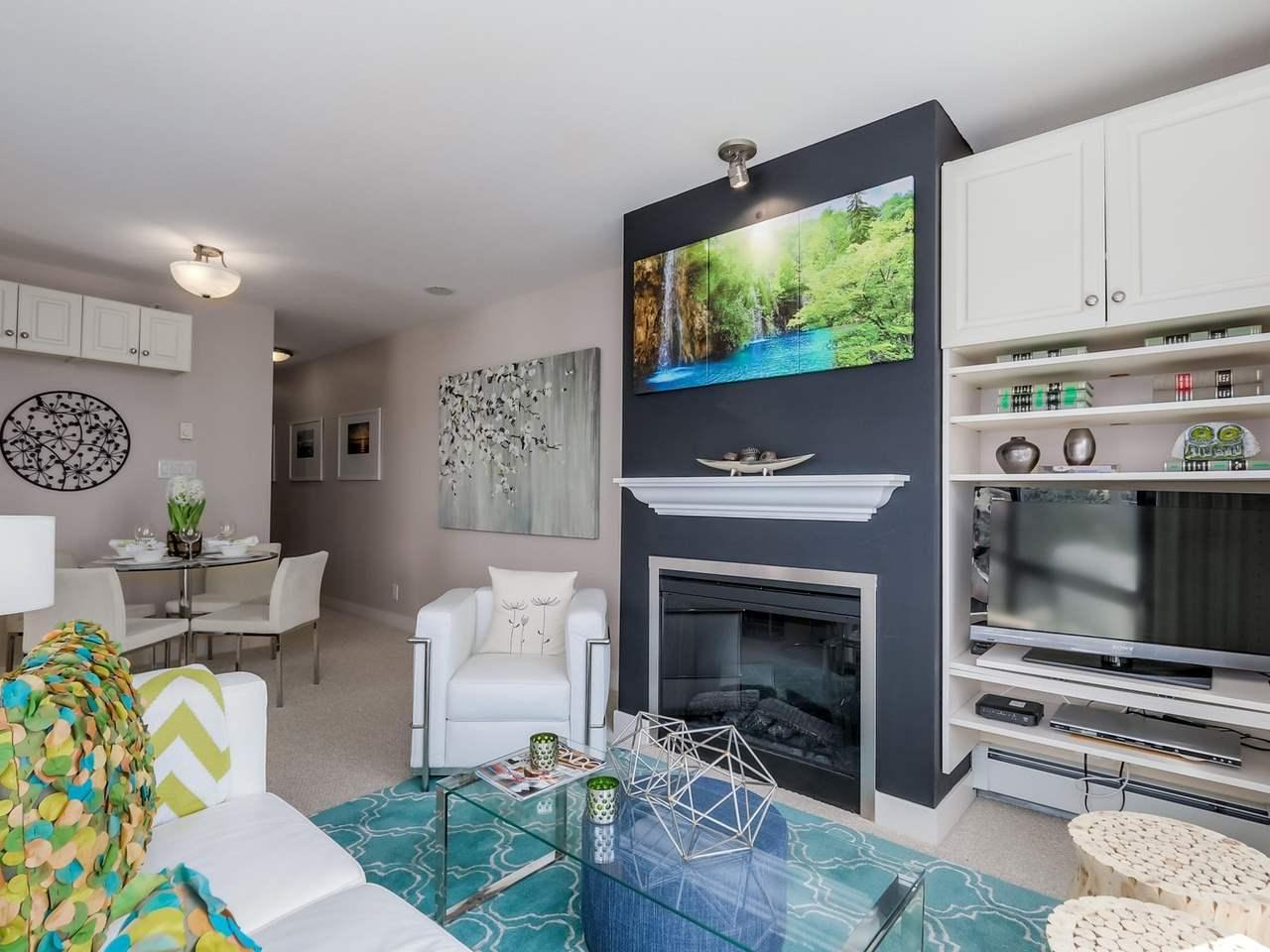 Fireplace at 805 - 151 W 2nd Street, Lower Lonsdale, North Vancouver