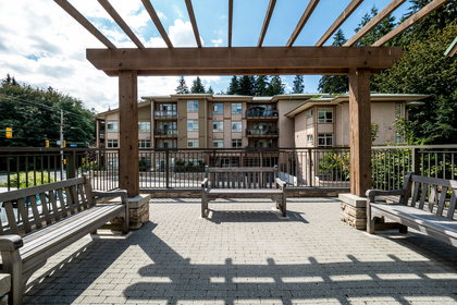 Common Courtyard at 302 - 3294 Mt. Seymour Parkway, Northlands, North Vancouver