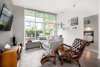 living at 102 - 63 W 2nd Street, False Creek, Vancouver West