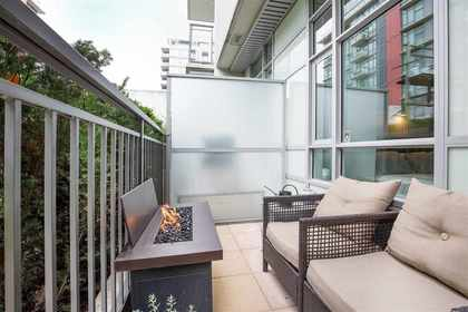patio at 102 - 63 W 2nd Street, False Creek, Vancouver West