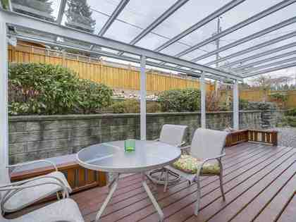 back-deck at 714 Donegal Place, Delbrook, North Vancouver