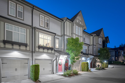'Pitched rooflines, and warm details' at 61 - 1320 Riley Street, Burke Mountain, Coquitlam