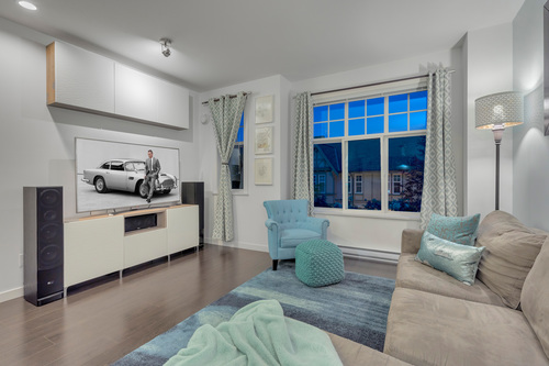 'Built in entertainment unit' at 61 - 1320 Riley Street, Burke Mountain, Coquitlam
