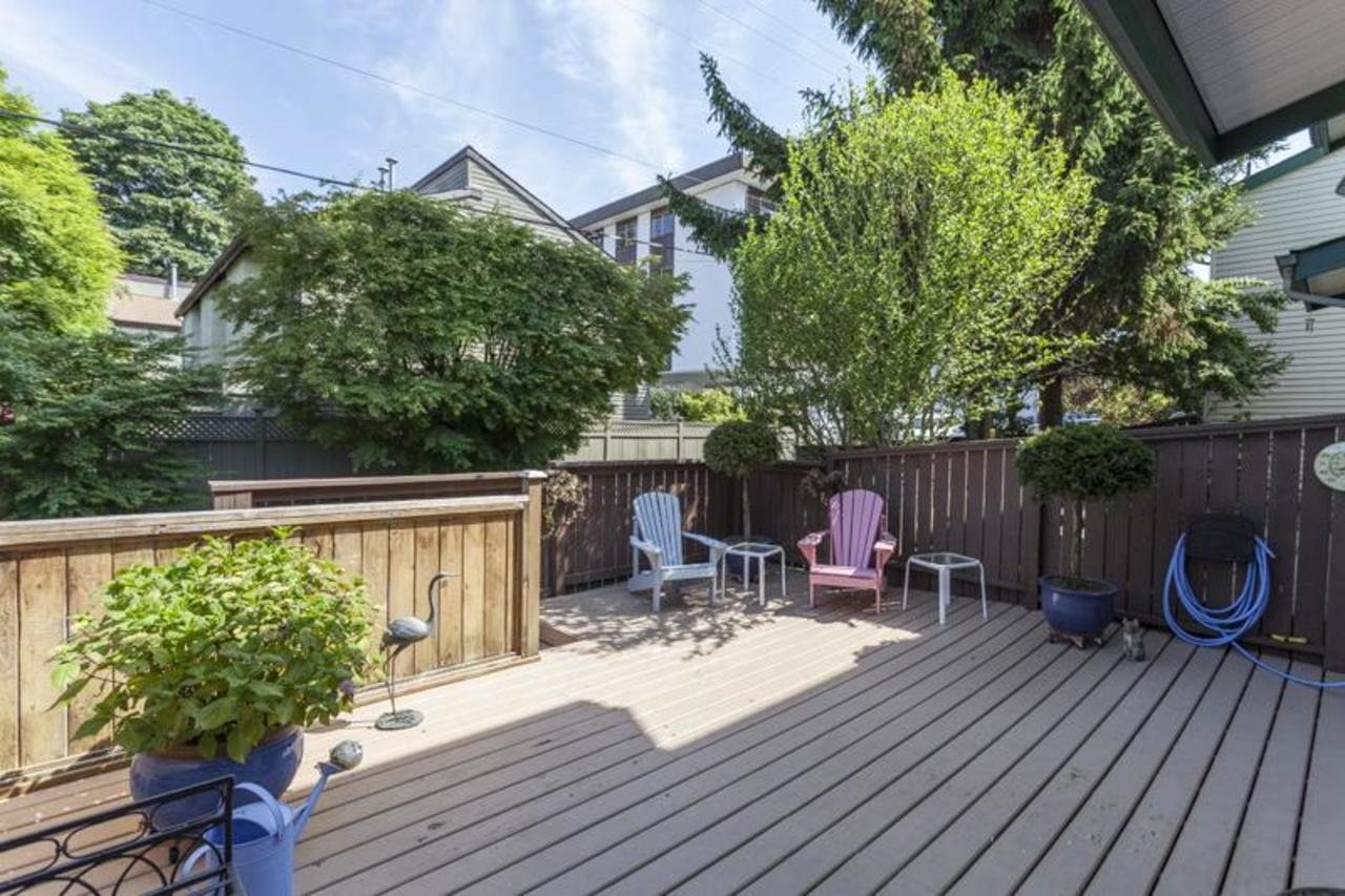 W13 back patio at 10 - 230 13, Lower Lonsdale, North Vancouver