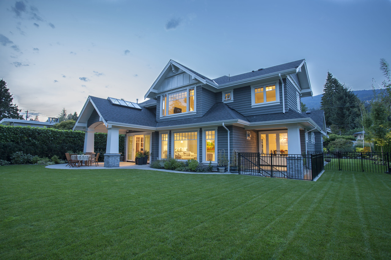 back exterior at 2478 Kings, Dundarave, West Vancouver
