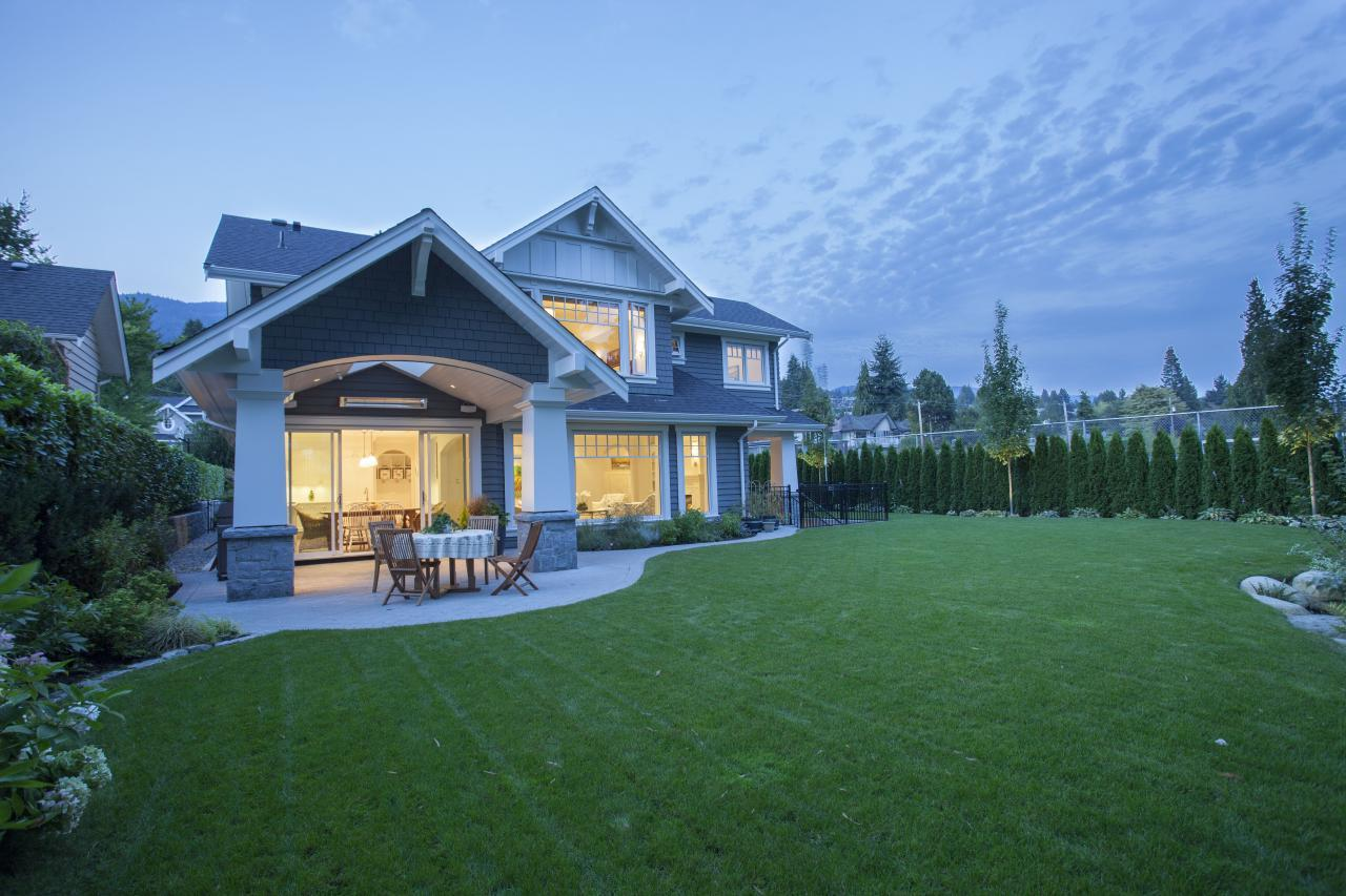 Private backyard at 2478 Kings, Dundarave, West Vancouver