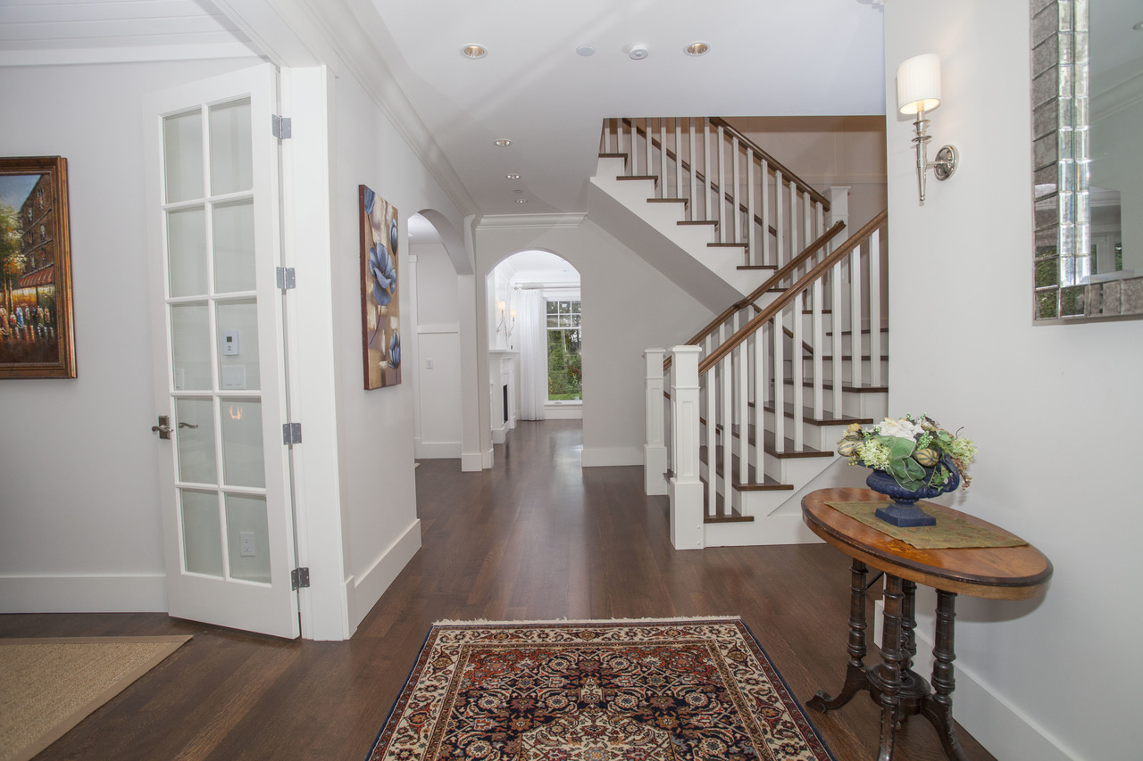 entrance hall at 2478 Kings, Dundarave, West Vancouver