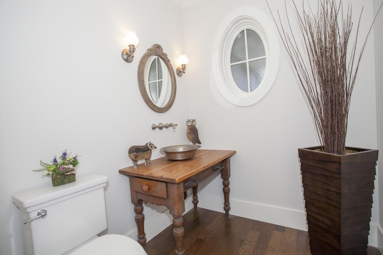 Main floor powder room at 2478 Kings, Dundarave, West Vancouver