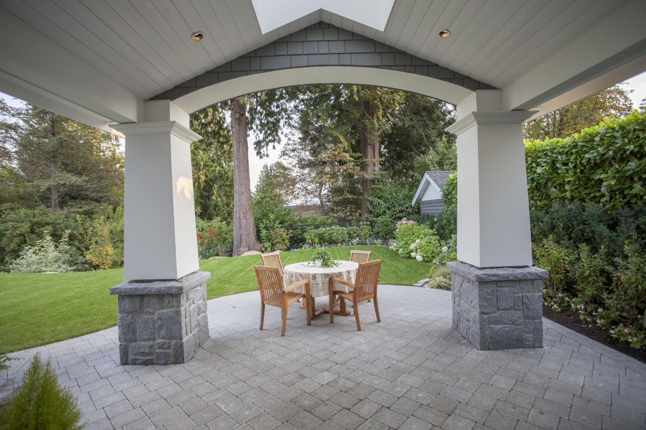 patio at 2478 Kings, Dundarave, West Vancouver