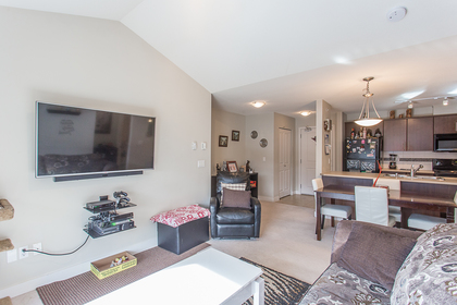 Living Room at 418 - 12248 224 Street, East Central, Maple Ridge
