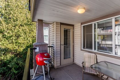 Balcony and Green Space at 307 - 5454 198 Street, Langley City, Langley