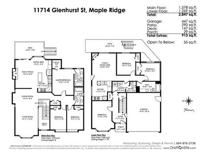 floorplan-photo at 11714 Glenhurst Street, Maple Ridge