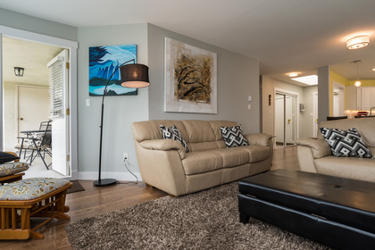 Living Room and Balcony at 506 - 1225 Merklin Street, White Rock,