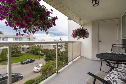 Ocean View front balcony at 506 - 1225 Merklin Street, White Rock Rock,