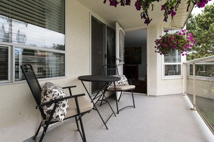Sun Drenched Patio at 506 - 1225 Merklin Street, White Rock,