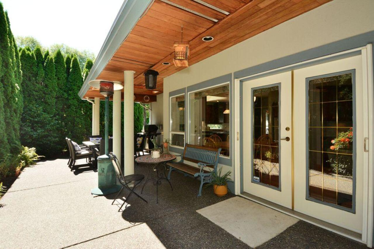 back patio at 2968 Northcrest Drive, Elgin Chantrell, South Surrey White Rock