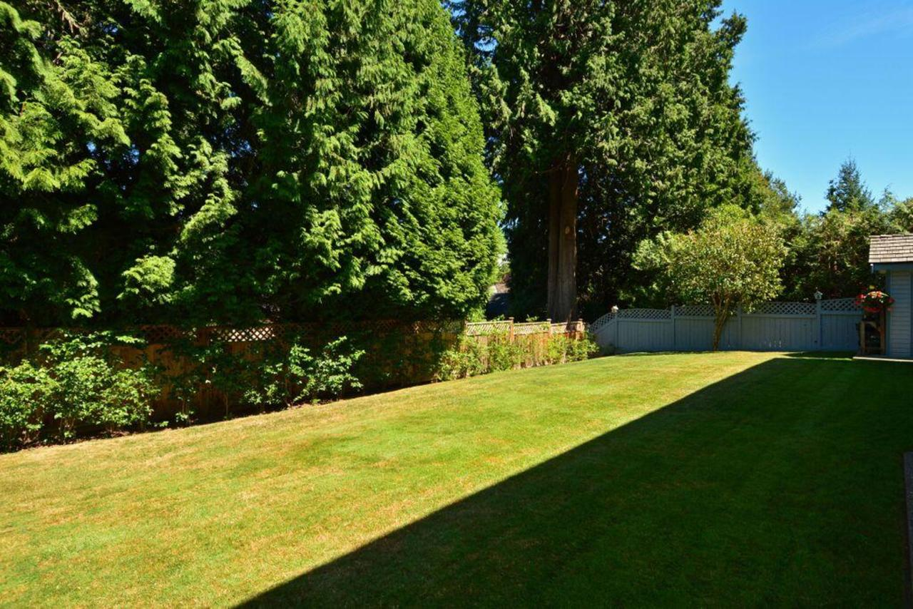 backyard at 2968 Northcrest Drive, Elgin Chantrell, South Surrey White Rock