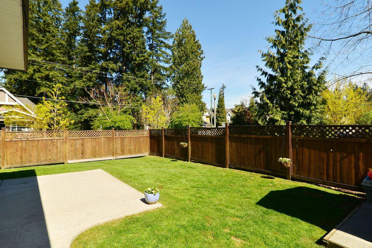 back-yardd at 3598 Rosemary Heights Crescent, Morgan Creek, South Surrey White Rock