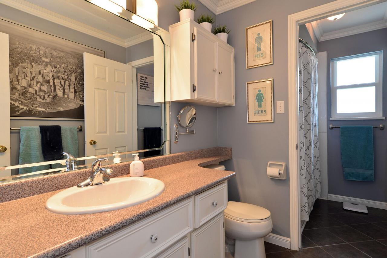 bathroom at 2214 153a Street, King George Corridor, South Surrey White Rock