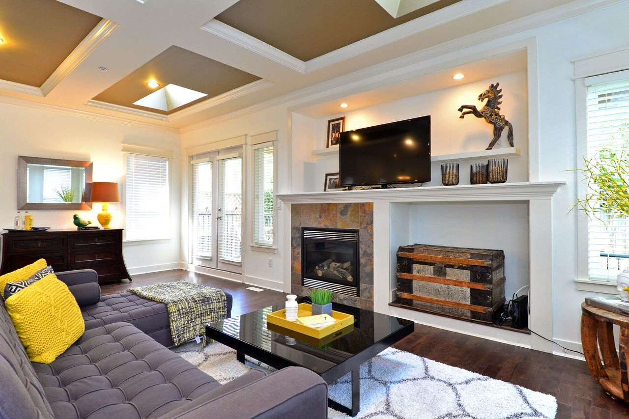 family-room at 15573 Goggs Avenue, White Rock, South Surrey White Rock