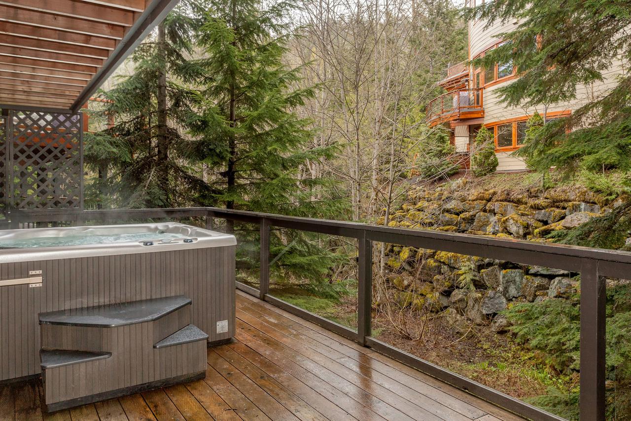 2112 7 Nordic Drive Hot Tub Deck at 7 - 2112 Nodric Drive, Nordic, Whistler