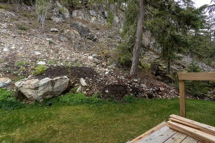 Backyard at 9331 Emerald Drive, Emerald Estates, Whistler