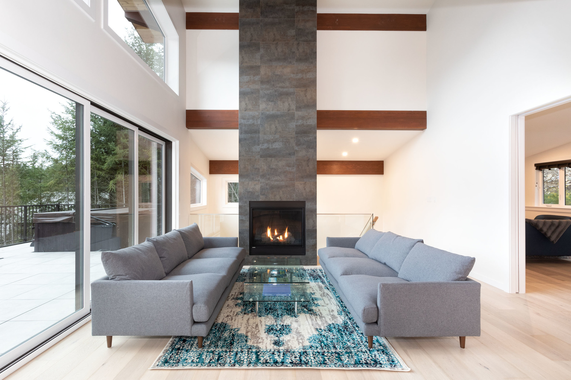 Living Room at 9331 Emerald Drive, Emerald Estates, Whistler