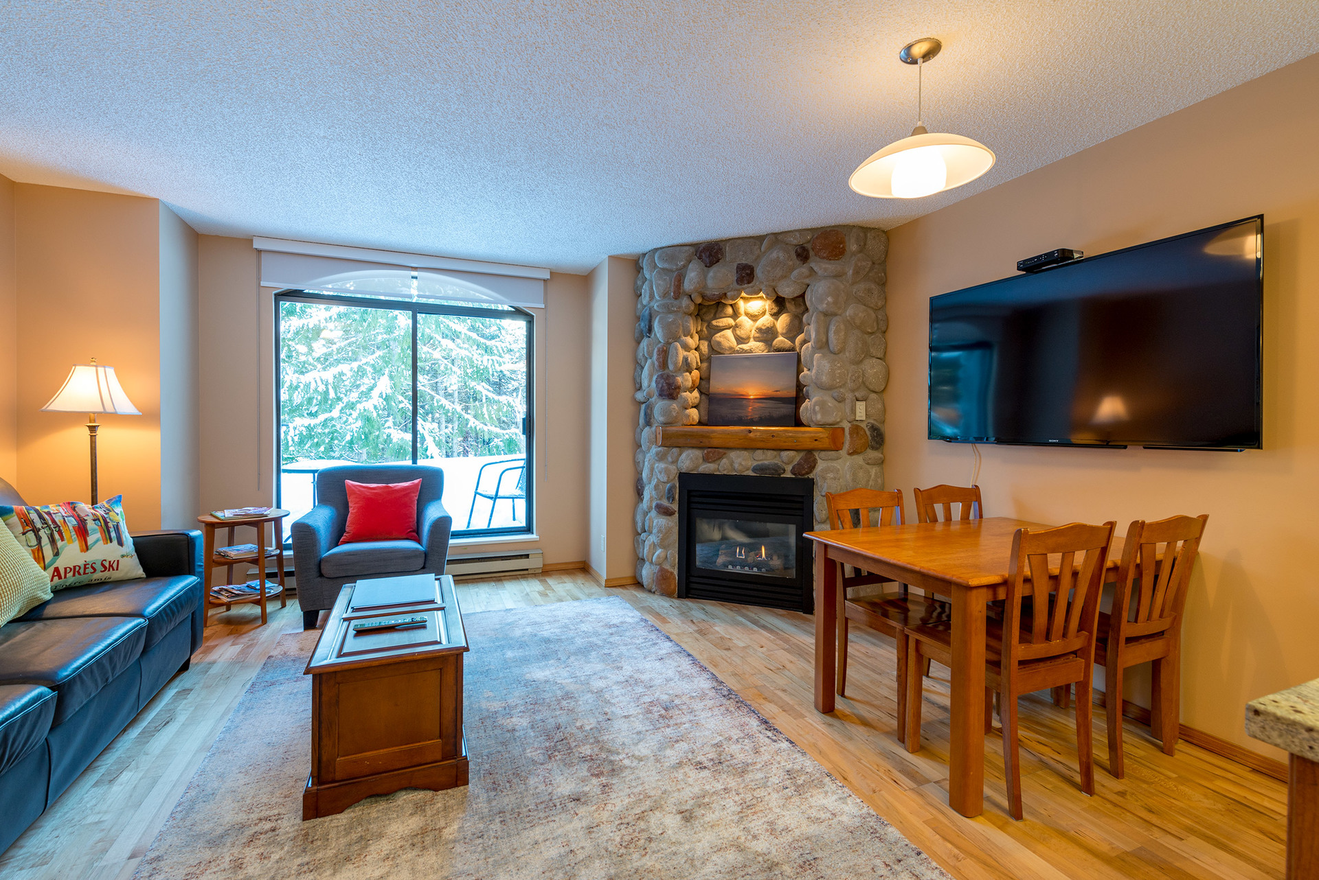 Living Area at 102 - 4809 Spearhead Drive, Benchlands, Whistler