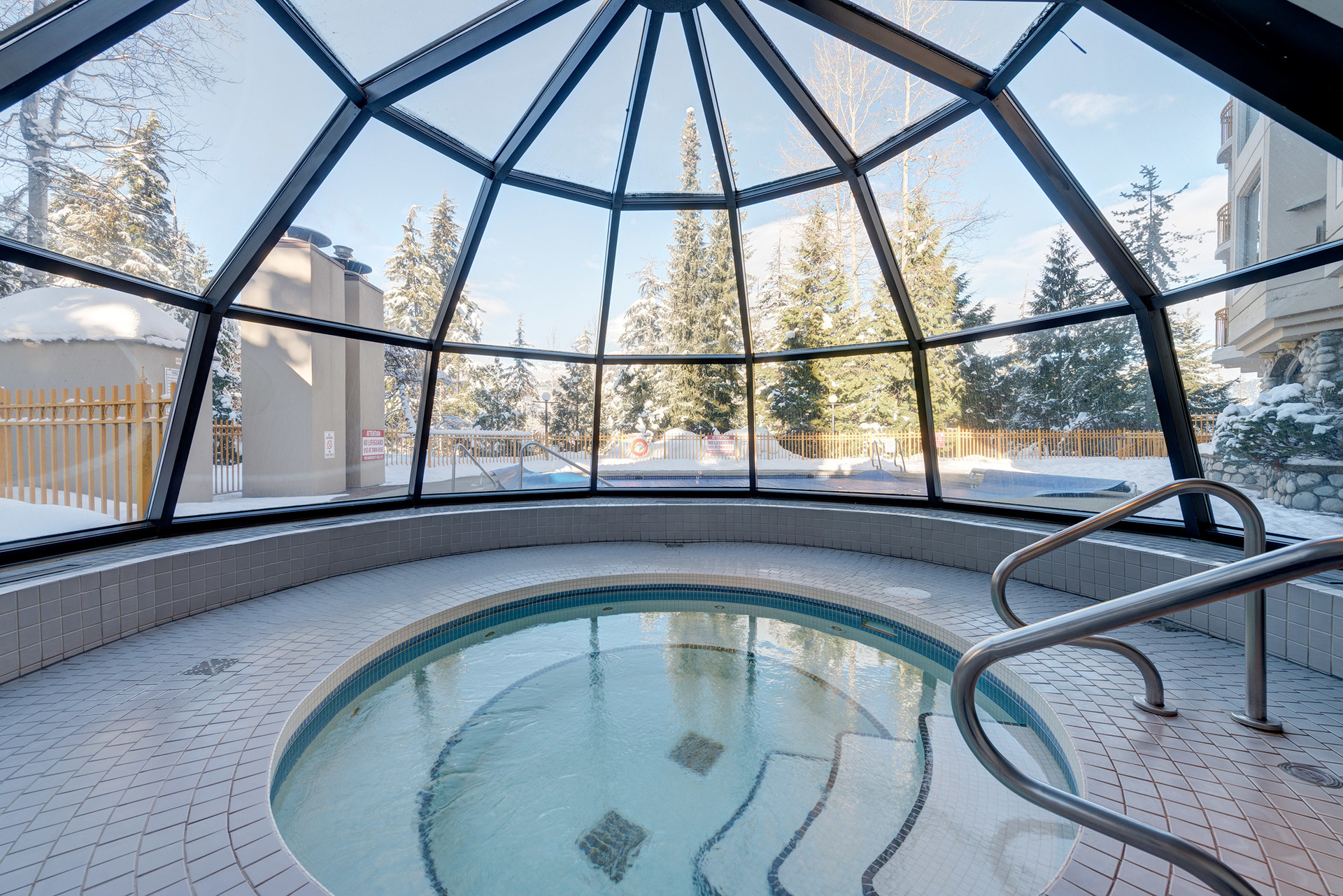 Hot Tub at 102 - 4809 Spearhead Drive, Benchlands, Whistler
