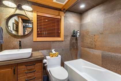 Downstairs Bathroom at 8232 Rainbow Drive, Alpine Meadows, Whistler