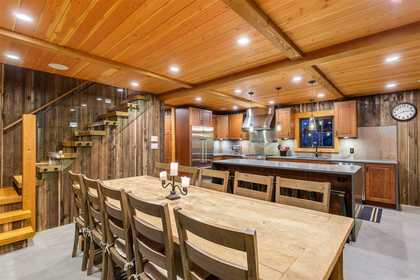 Dining Room & Kitchen at 8232 Rainbow Drive, Alpine Meadows, Whistler
