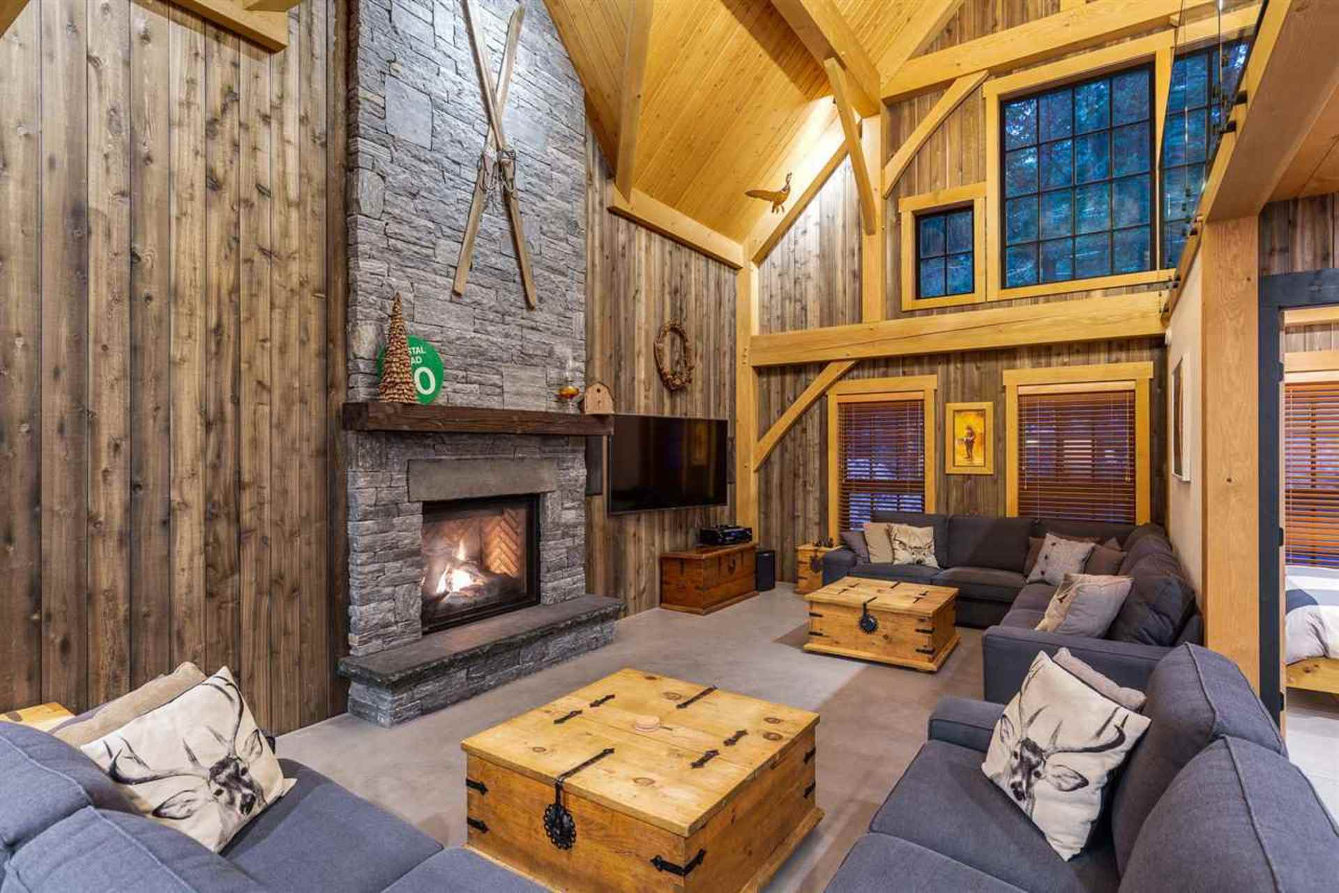Great Room at 8232 Rainbow Drive, Alpine Meadows, Whistler