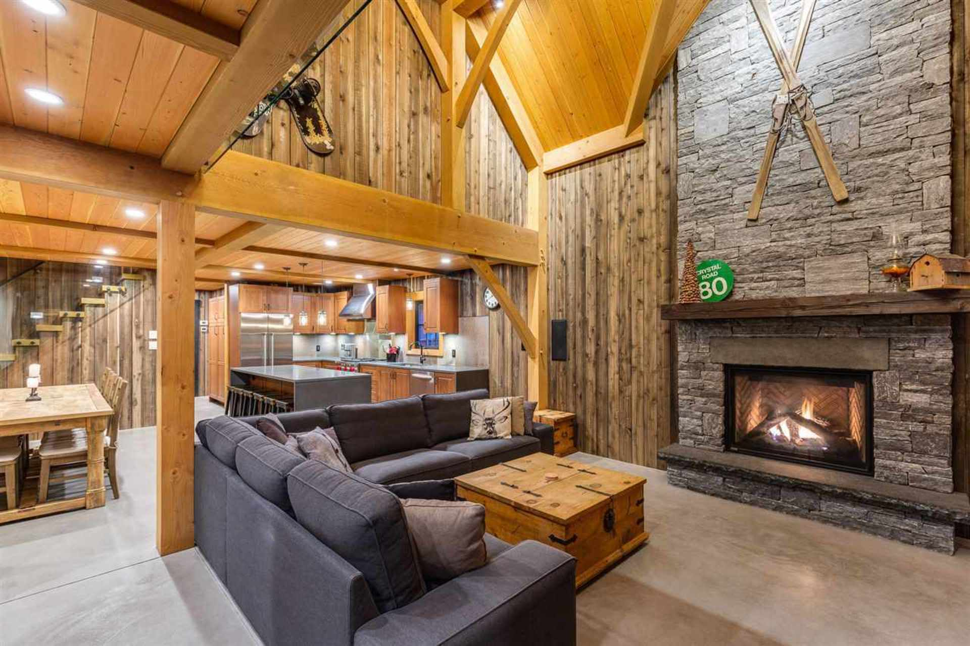 Great Room and Kitchen at 8232 Rainbow Drive, Alpine Meadows, Whistler