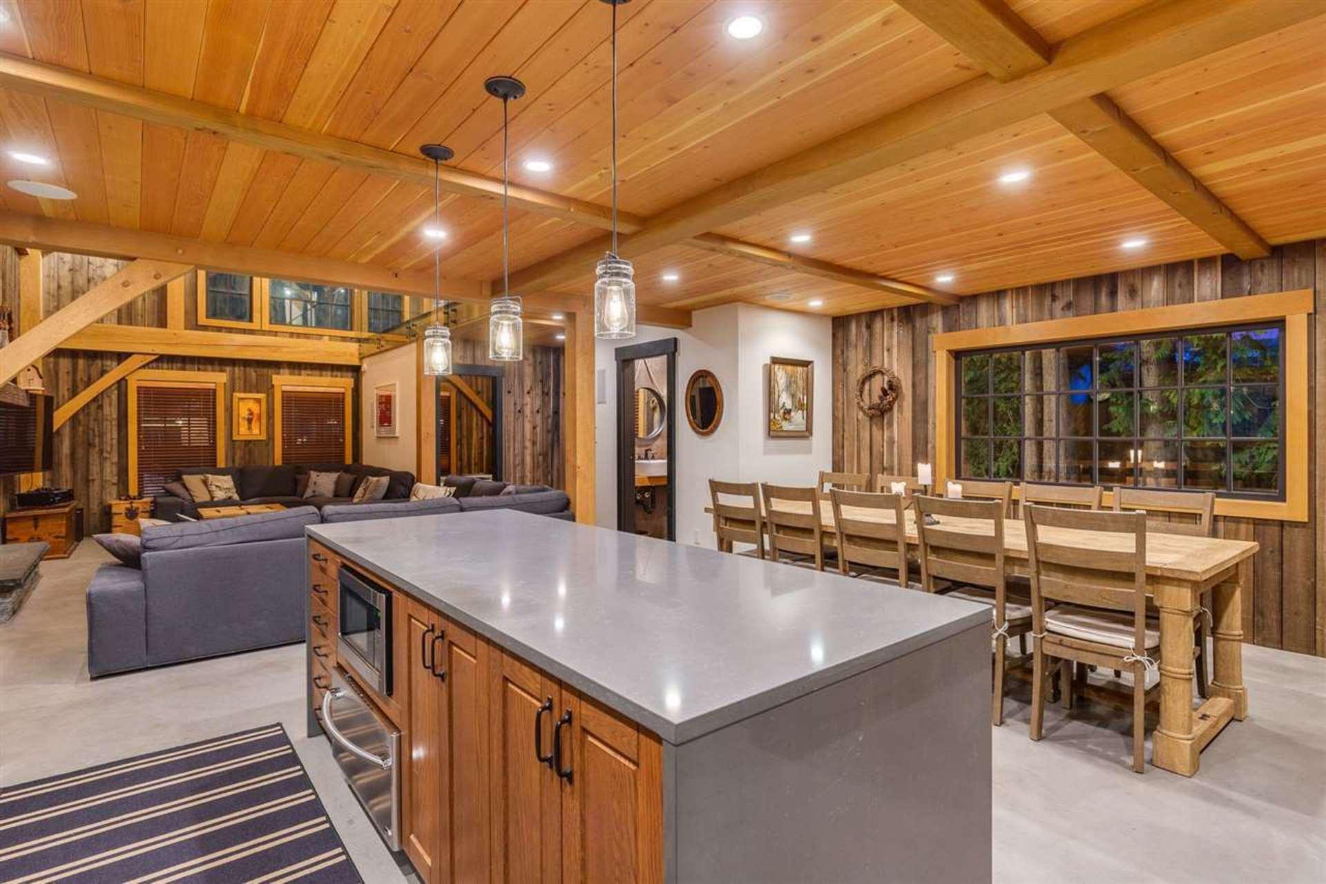 Kitchen & Dinning Room at 8232 Rainbow Drive, Alpine Meadows, Whistler
