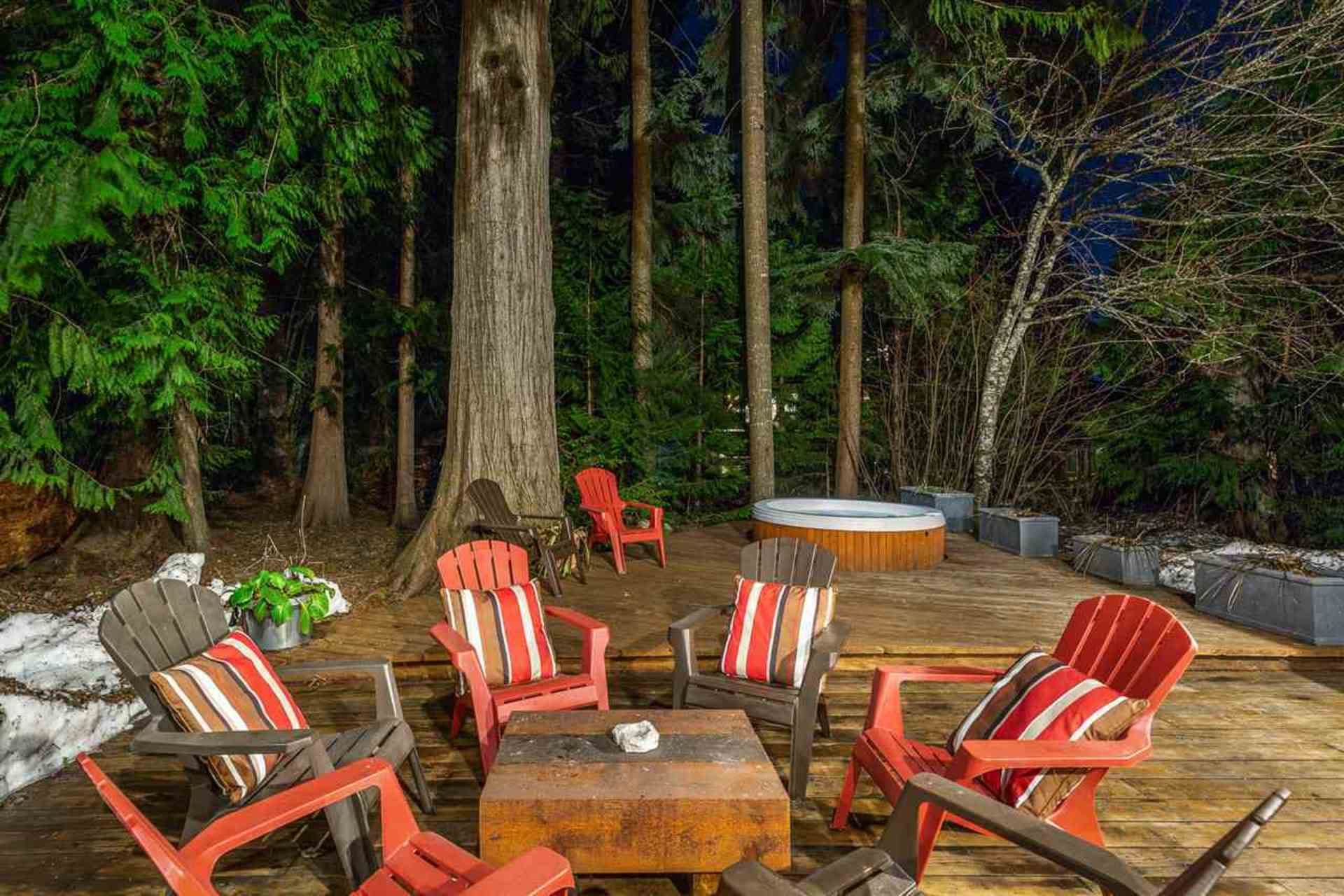 Backyard at 8232 Rainbow Drive, Alpine Meadows, Whistler