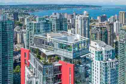 1211 Melville Street at PH3801 - 1211 Melville Street, Coal Harbour, Vancouver West