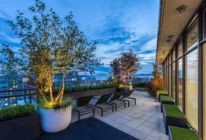Master Patio at PH3801 - 1211 Melville Street, Coal Harbour, Vancouver West
