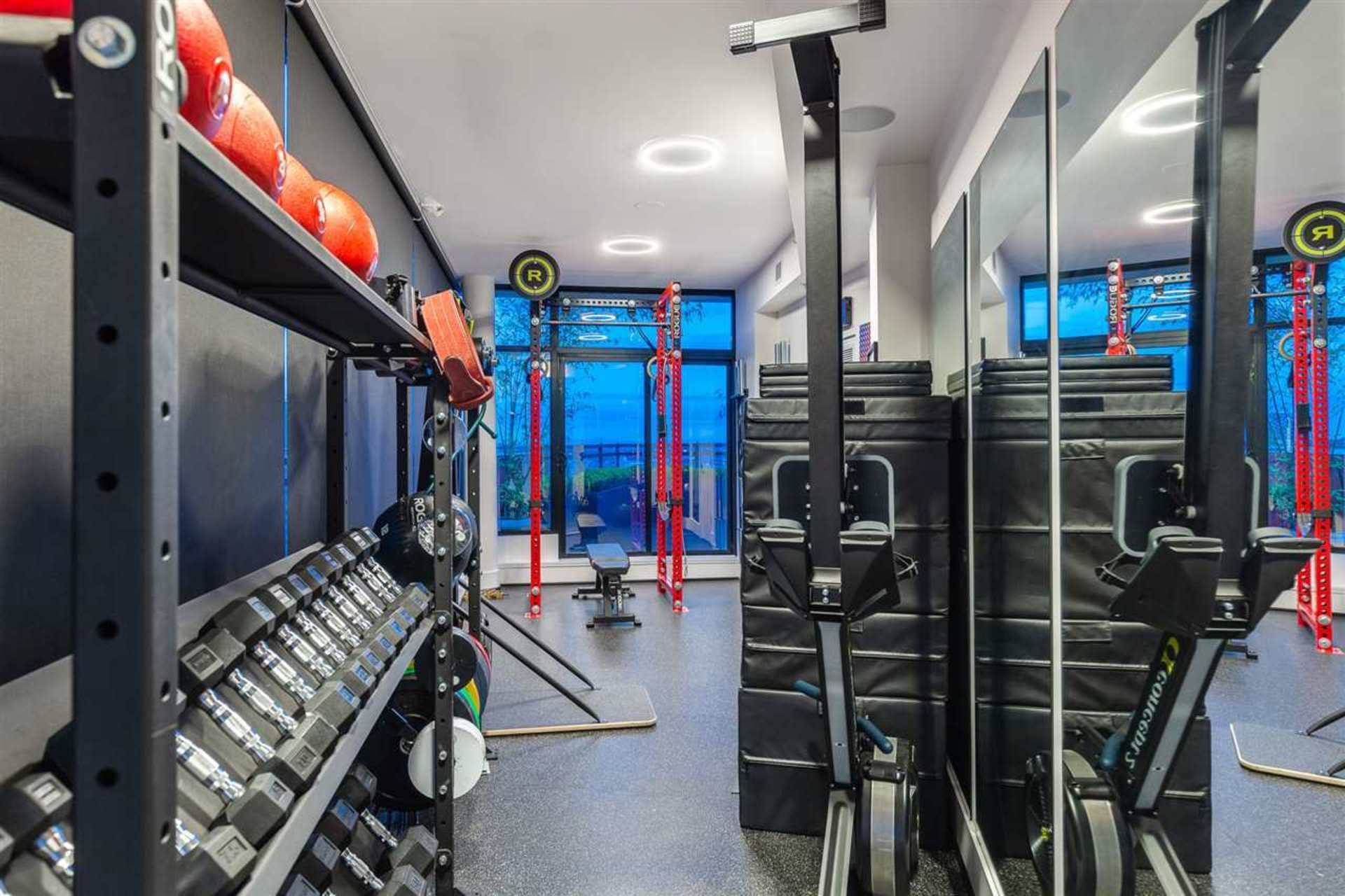 Private Gym at PH3801 - 1211 Melville Street, Coal Harbour, Vancouver West