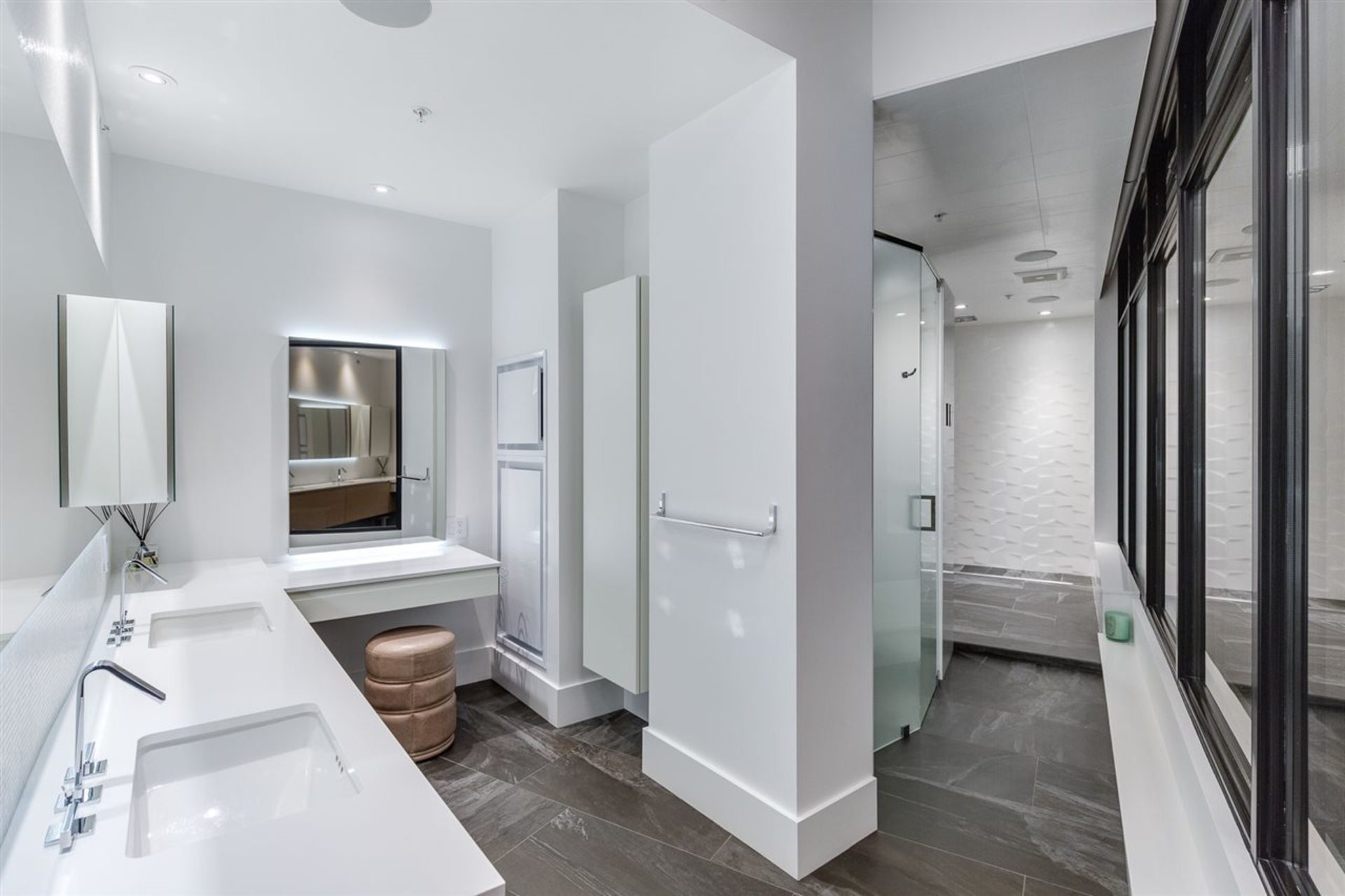 Master Bathroom at PH3801 - 1211 Melville Street, Coal Harbour, Vancouver West