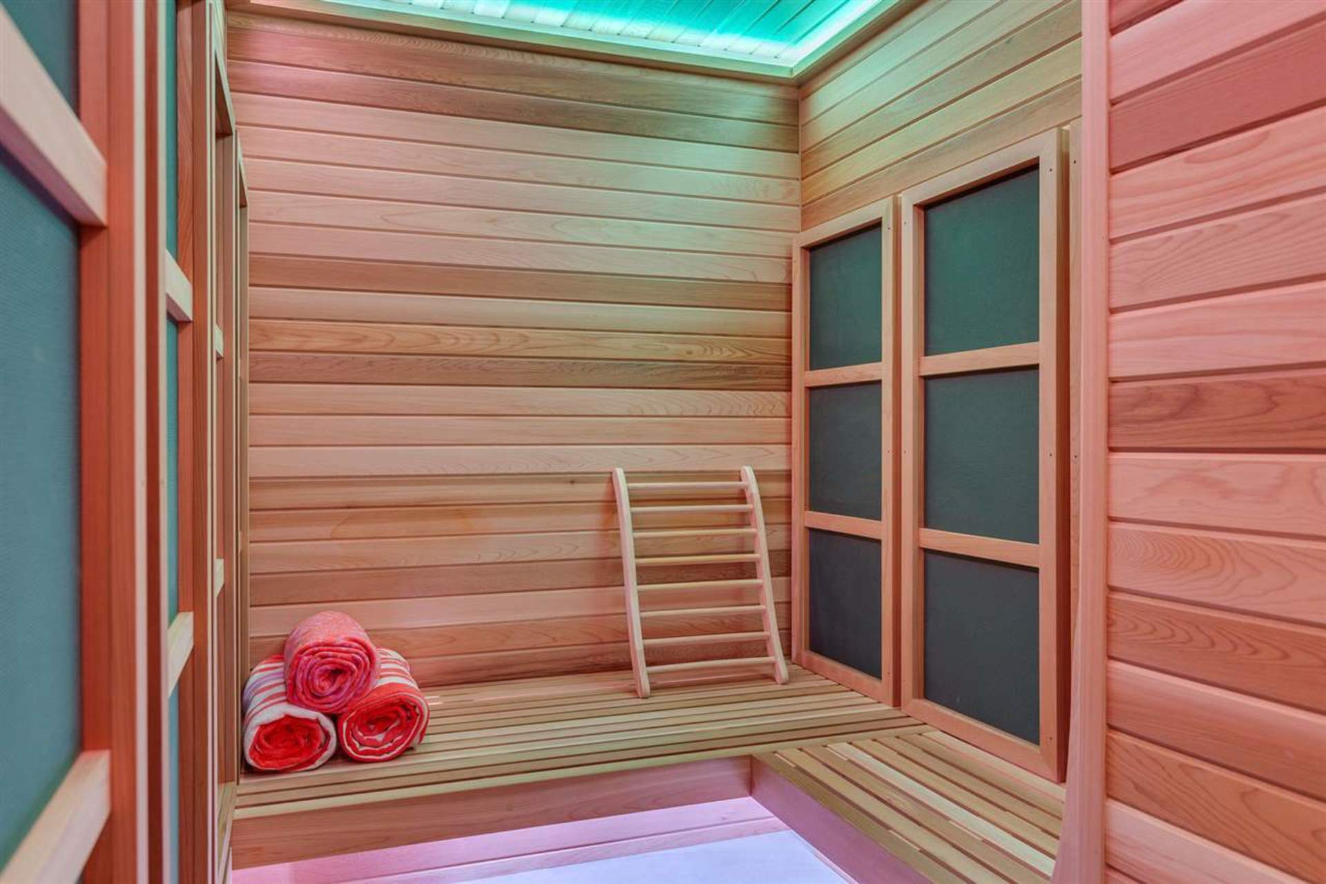 Private Sauna at PH3801 - 1211 Melville Street, Coal Harbour, Vancouver West